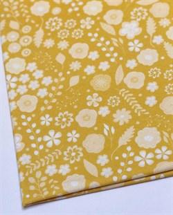 Цветы на желтом - фото 4570
