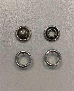 Кнопка НИКЕЛЬ металлическая 9,5мм БЕЗ КРЫШКИ - фото 6503
