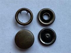 Кнопка АНТИК металлическая 9,5мм с КРЫШКОЙ