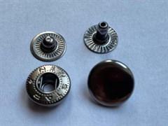 Кнопка АЛЬФА АНТИК металлическая 12,5мм с КРЫШКОЙ